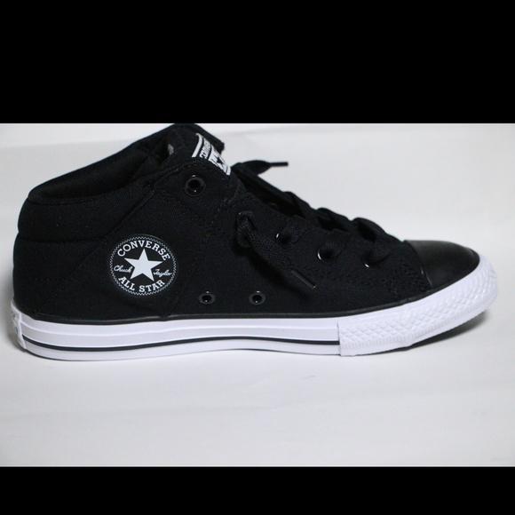 83ce71d3e394 Converse Black All Star Mid Tops